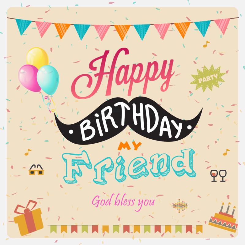 tarjeta felicitacion cumpleaños amiga