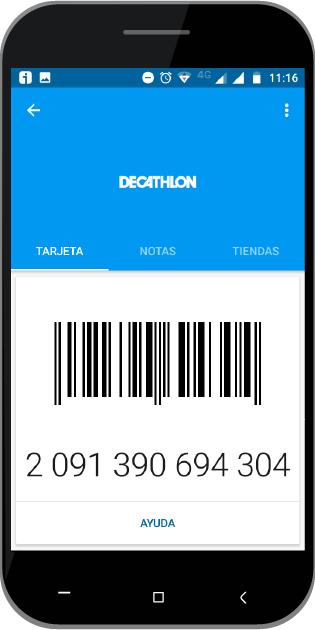 app tarjeta decathlon