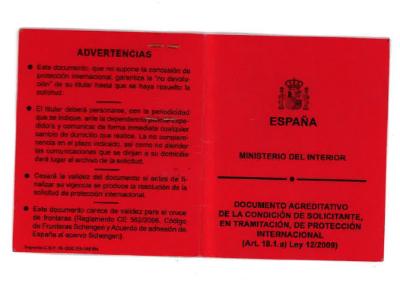 tarjeta roja españa tramite