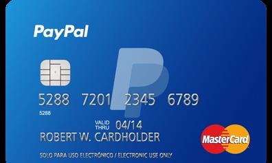 tarjeta de paypal