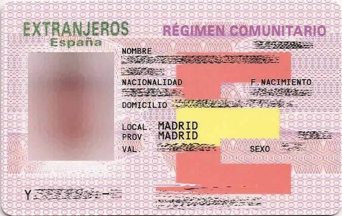 tarjeta comunitaria en españa