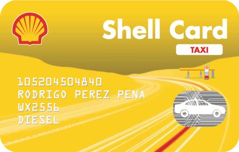 tarjeta shell taxi