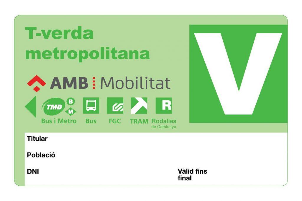 tarjeta verde barcelona