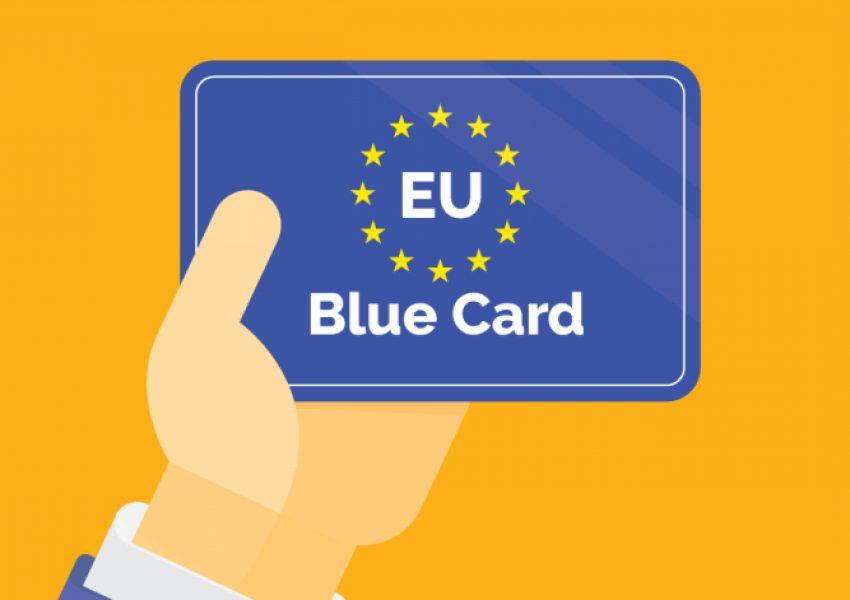 tarjeta azul europa