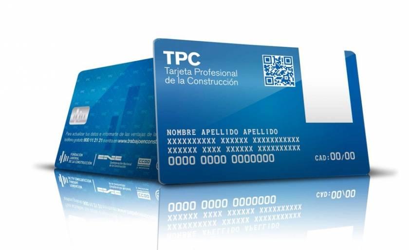 tarjeta profesional construccion