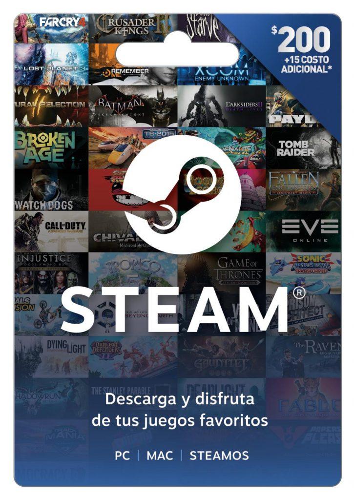 tarjeta steam