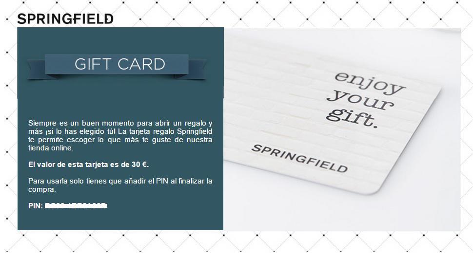 tarjeta springfield ventajas