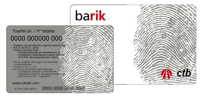 barik tarjeta