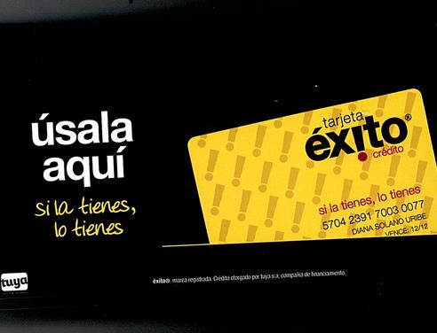 tarjeta exito colombia